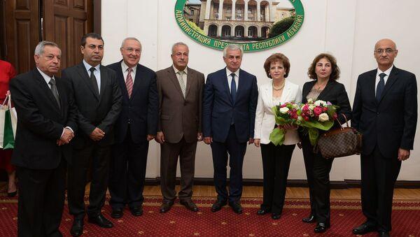 Встреча президента с делегацией Народного Совета Сирии - Sputnik Аҧсны