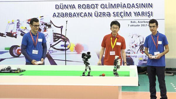 Роботы в Баку сыграли в футбол - Sputnik Абхазия