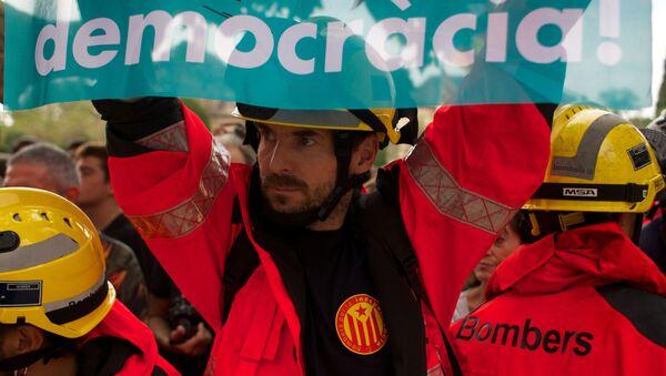 Всеобщая забастовка в поддержку референдума о независимости Каталонии в Барселоне - Sputnik Аҧсны