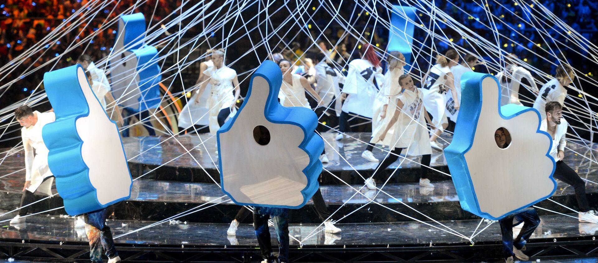 Театрализованное представление на церемонии открытия XIX Всемирного фестиваля молодежи и студентов (ВФМС) в Ледовом дворце Большой в Сочи - Sputnik Аҧсны, 1920, 20.09.2020