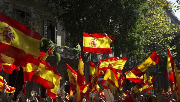 Митинг в защиту единства Испании в Барселоне - Sputnik Абхазия