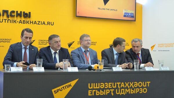 LIVE: Пресс-конференция по итогам VIII Абхазо-российского делового форума - Sputnik Абхазия