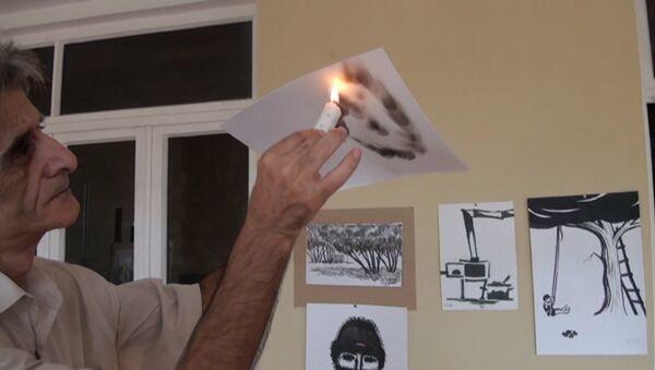 Свеча вместо кисти: художник из Газаха создает уникальные работы - Sputnik Абхазия