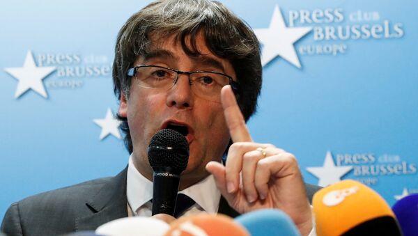 Пресс-конференция Карлеса Пучдемона в Брюсселе - Sputnik Аҧсны