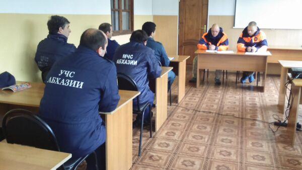 Учебно-тренировочные занятия МЧС - Sputnik Аҧсны