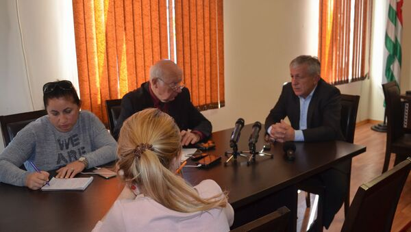 Пресс конференция в Гудауте - Sputnik Абхазия