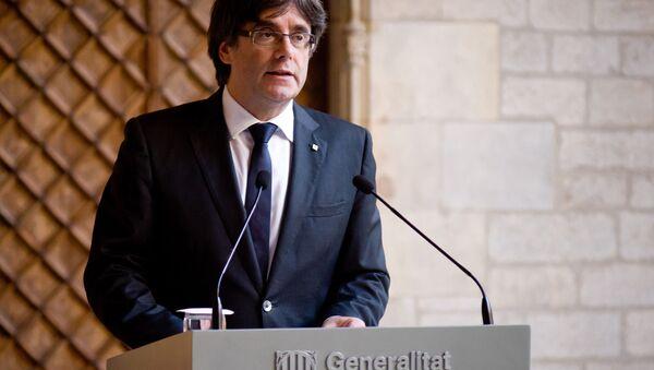 Экс-глава правительства Каталонии Карлес Пучдемон - Sputnik Абхазия