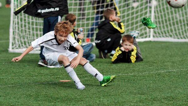 Детская команда футбольного клуба Динамо на детском турнире Hopes Cup (Лига надежды) в Сочи - Sputnik Аҧсны