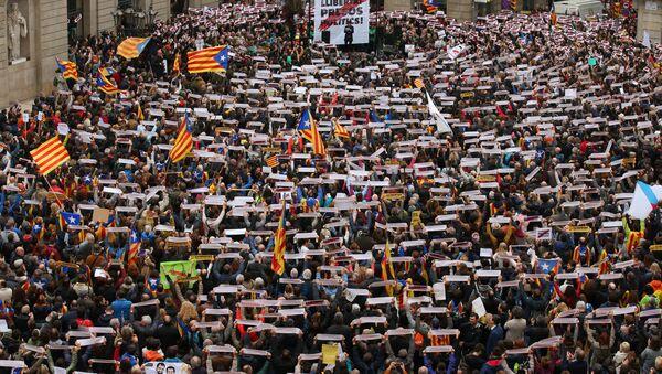 Забастовка в Барселоне - Sputnik Абхазия