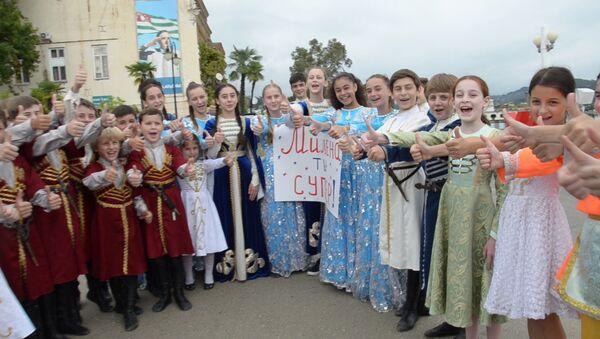 Горячий привет: друзья поддержали Милену Тачулия перед Ты супер! Танцы - Sputnik Абхазия