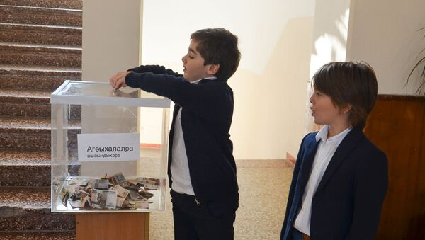 Акция Урок добра в 10 школе в Сухуме - Sputnik Аҧсны