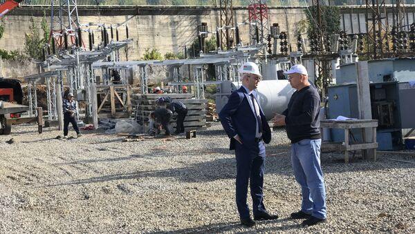 Аслан Басария оценил ход реконструкции подстанции Гагра-1 - Sputnik Абхазия
