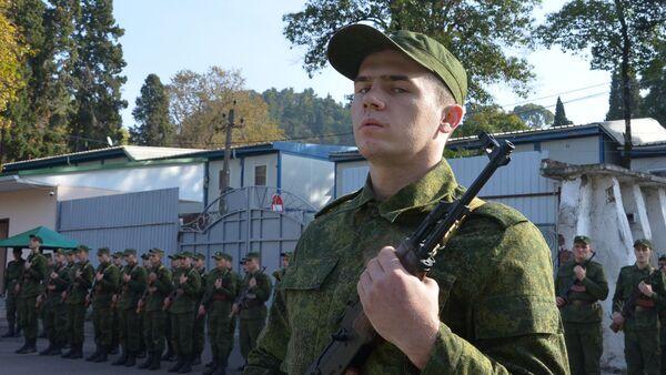 Новобранцы абхазской армии прошли курс молодого бойца - Sputnik Аҧсны