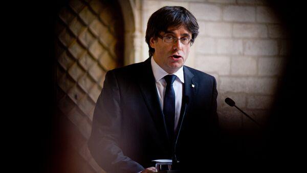 Глава правительства Каталонии К.Пучдемон выступил с заявлением - Sputnik Абхазия