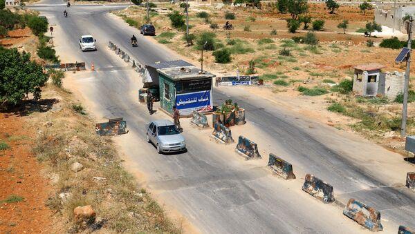 Контрольно-пропускной пункт в городе Идлиб, Сирия - Sputnik Аҧсны