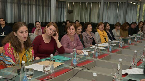 Встреча Адгура Харазия с Ассоциацией Инва-Содействия - Sputnik Абхазия