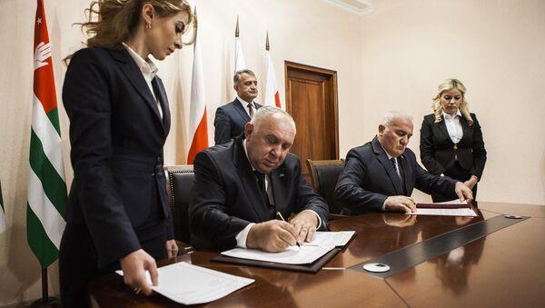 Подписание соглашений между министерствами здравоохранения РЮО и РА - Sputnik Абхазия
