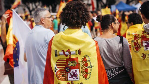 Акция в поддержку единства Испании в Барселоне - Sputnik Абхазия