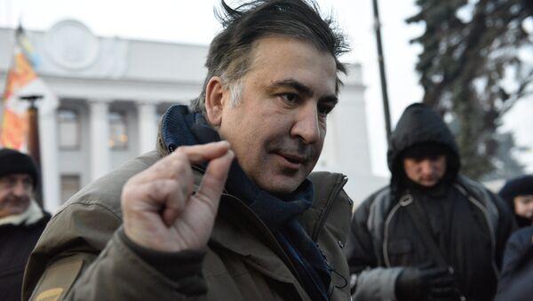 Бывший губернатор Одесской области Михаил Саакашвили отвечает на вопросы журналистов - Sputnik Абхазия