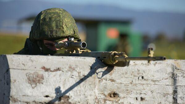 Тренировка снайперов Южного военного округа - Sputnik Аҧсны