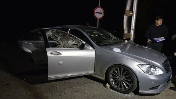 Фото с места обстрела автомобиля в районе Гумисты - Sputnik Абхазия