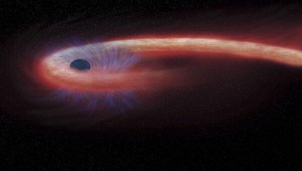 Художественное изображение черной дыры в созвездии Девы, поглощающей рекордные количества материи - Sputnik Абхазия
