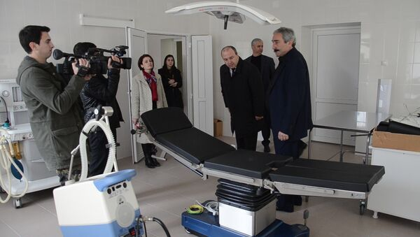 Новый и современный: церемония открытия противотуберкулезного диспансера в Гулрыпше - Sputnik Абхазия