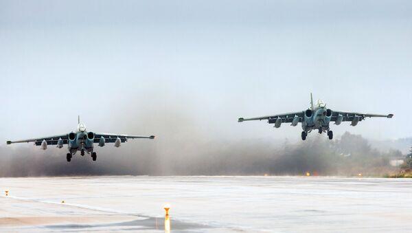 Подготовка к вылету самолетов ВКС России на авиабазе Хмеймим в Сирии - Sputnik Абхазия
