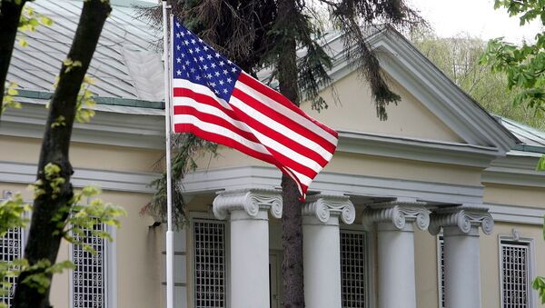Здание посольства США в Минске - Sputnik Аҧсны