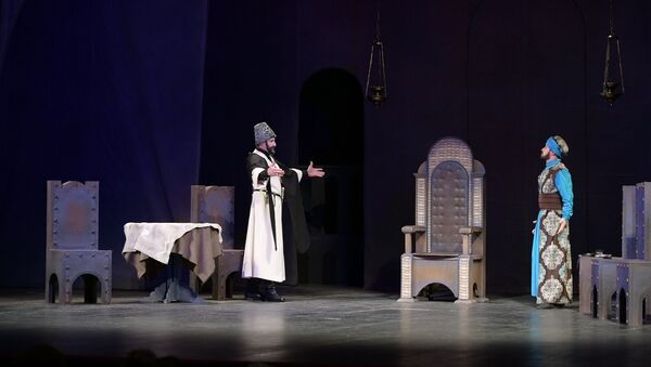 Аҭоурых аарԥшра: аҿартә театр рықәыргыламҭа Қьалашьбеи - Sputnik Аҧсны
