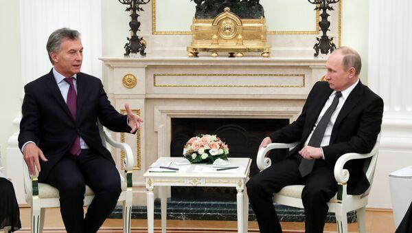 Встреча президентов РФ и Аргентины В. Путина и М. Макри - Sputnik Абхазия
