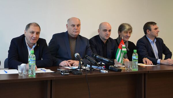 Пресс-конференция оппозиции - Sputnik Абхазия