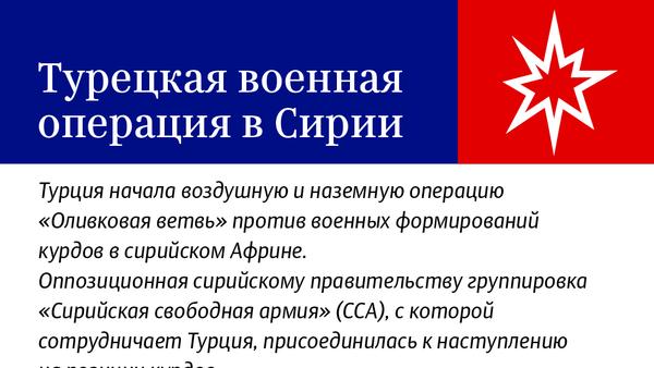 Турецкая военная операция в Сирии - Sputnik Абхазия