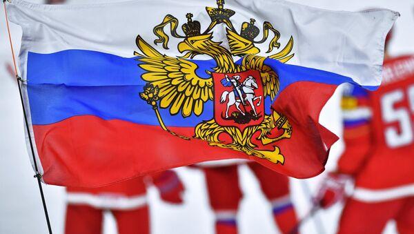 Перед матчем группового этапа чемпионата мира по хоккею 2017 между сборными командами России и Латвии. - Sputnik Аҧсны