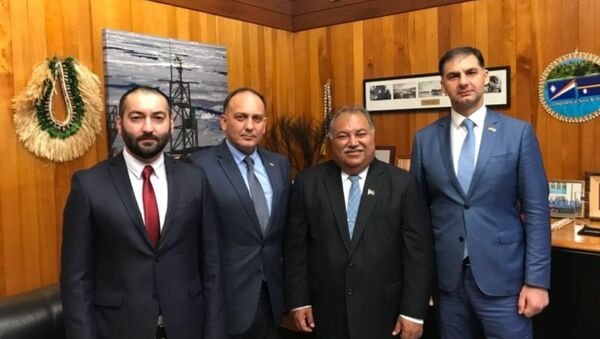 Встреча Министра иностранных дел Даура Кове с Президентом Республики Науру Бароном Дивавеси Вака - Sputnik Абхазия