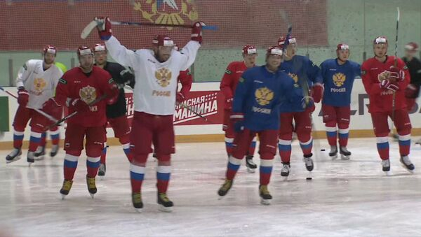Сборная России по хоккею готовится к Олимпиаде-2018 - Sputnik Абхазия