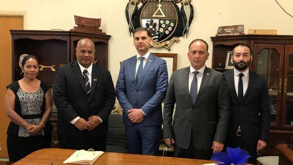 Подписано Соглашение о межпарламентском сотрудничестве между Республикой Абхазия и Республикой Науру - Sputnik Абхазия