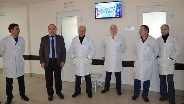Открытие отделения эндоскопии в Республиканской больнице - Sputnik Абхазия