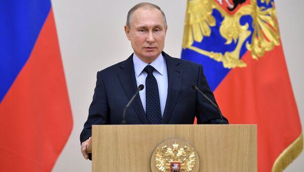 Президент РФ В. Путин встретился с российскими участниками XXIII Олимпийских зимних игр 2018 года в Пхёнчхане - Sputnik Аҧсны