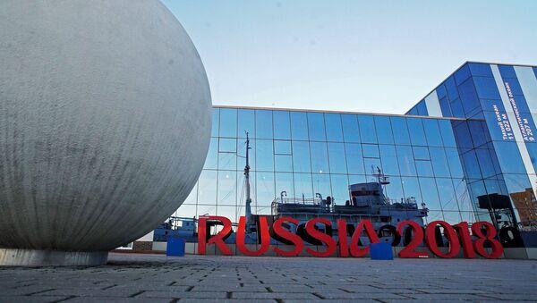 Инсталляция Russia 2018 у Музея Мирового океана в Калининграде. - Sputnik Абхазия
