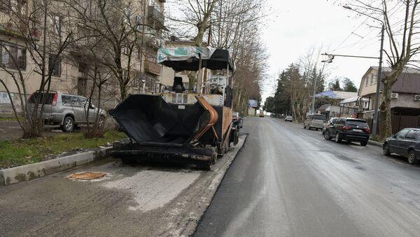 Укладка асфальта по ул.Имама Шамиля - Sputnik Абхазия