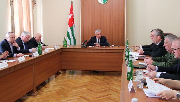 Совещание в администрации президента по подготовке в празднованию Дня независимости Абхазии - Sputnik Аҧсны
