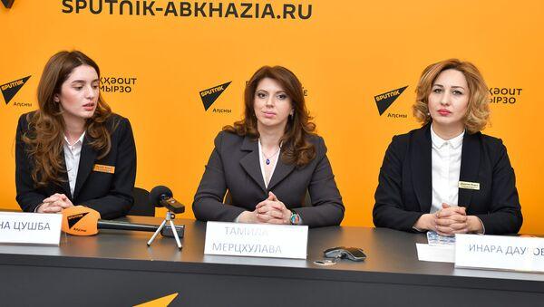 Пресс-конференция ТПП Абхазии о поездке в Прагу - Sputnik Аҧсны