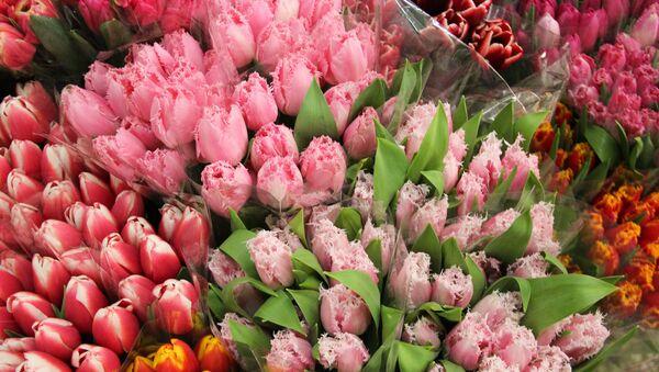 Продажа цветов на Сухумском рынке - Sputnik Абхазия