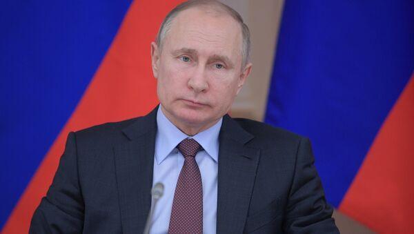 Президент РФ Владимир Путин, 6 марта 2018 - Sputnik Аҧсны