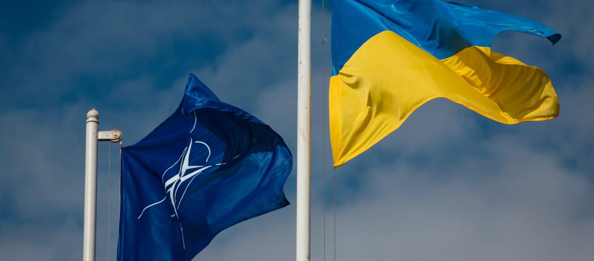 Флаг Украины и НАТО - Sputnik Абхазия, 1920, 18.06.2021
