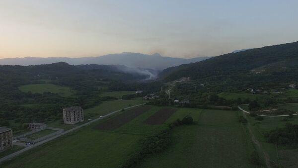 Вид на дома в селе Приморское в районе взрыва. Кадры с беспилотника - Sputnik Абхазия