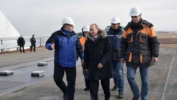 Рабочая поездка президента РФ В. Путина в ряд регионов Южного федерального округа - Sputnik Абхазия