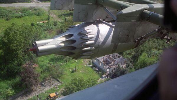 Грузино-абхазский конфликт. Вид с вертолета на разрушенные жилые дома в Гальском районе. - Sputnik Абхазия