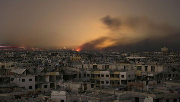 Дым над Восточной Гутой, Сирия - Sputnik Аҧсны